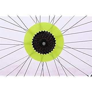 7 1/2 TRENDY SPOKE DISC PROTECTOR MTB SP0RTS BIKE GREEN,PINK,YELLOW,ORANGE (Yellow)