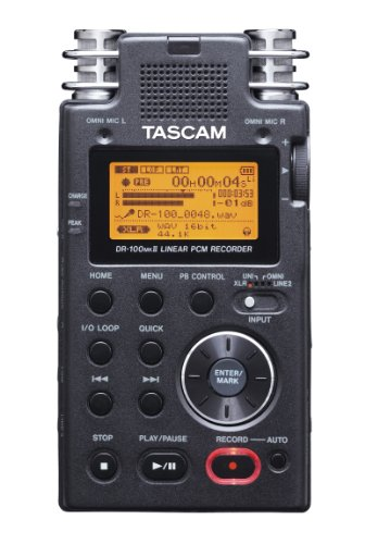 tascam-dr-100mkii-dictfono-5h-hq-mp3-wav-lcd-mbar-400-mw-negro-cromo