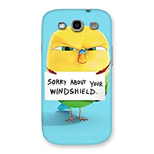 Enticing Cute Sorry Print Back Case Cover for Galaxy S3