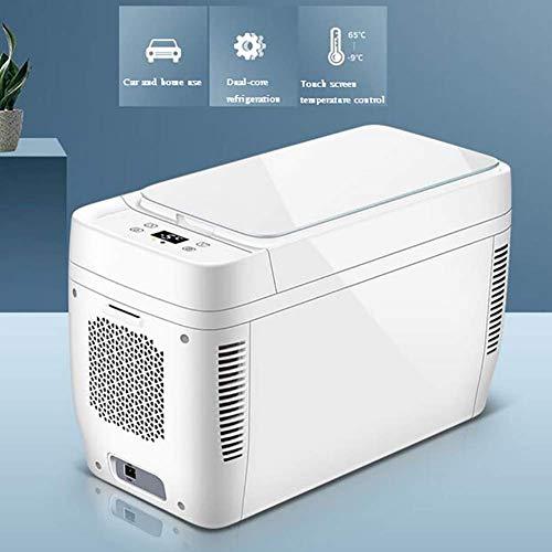 ADHW Elektrisch Kühlbox 12 V DC Auto Gefrierbox Tragbar und Kompakt Autokühler Mini Kühlschrank,Doppelspannung Für Auto und Zuhause, Camping, Truck Party (Size : 11L Dual core car Home)