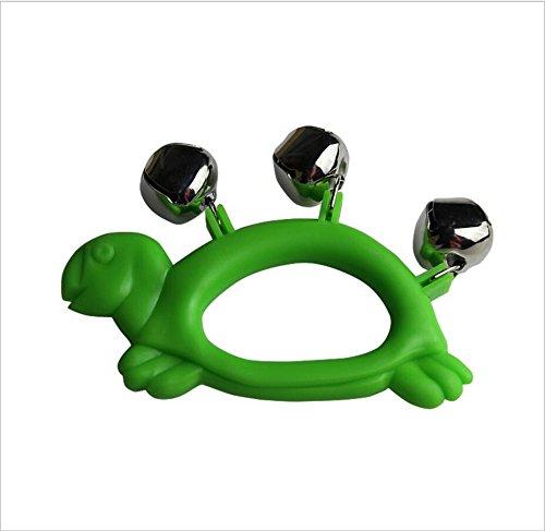 rtoon Schildkröte 3 Glocke Hand Glocke Rassel (grün) ()