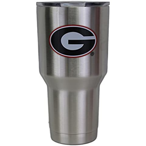 Georgia Bulldogs NCAA Stainless Steel Insulated 30oz Tumbler - Silver
