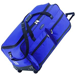 Jeep Wheeled Holdall 31 inch Luggage Bag with Wheels Royal Blue 543RB