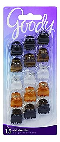 Goody Classics Claw Hair Clip, Mini Crown, 15 Count by Goody Classics