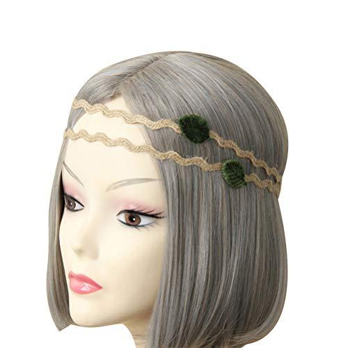 band Blätter Haarbänder Hanf Kranz Haarbänder für Brautmädchen Frauen Hochzeit Geburtstag Haar Accessoire Gefälligkeiten ()