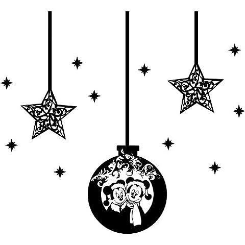 Set von 13Weihnachtsschmuck 1x 30cm, 2Sterne–21cm, 10Sterne–5cm wähle Farbe 18Farben in Lager Weihnachtskugeln Mickey Mouse und Minnie Mouse, Kinder Schlafzimmer, Auto Vinyl-, Windows und Wandtattoo, Wand Windows Art, Weihnachten, Decals, Ornament Vinyl Sticker