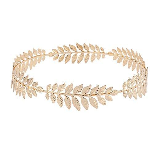 LUX Zubehör Gold Ton Grecian Game of Thrones Leaf Göttin Flower Crown