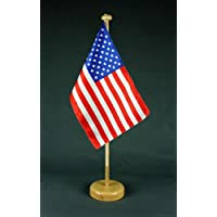 Buddel-Bini Kleine Tischflagge Peru 15x10 cm mit 30 cm Mast aus PVC-Rohr ohne St/änderfu/ß