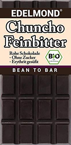 """Edelmond""""Chuncho"""" zartbittere Schokoladentafel - nur Erhytrit und Kakao (1 Tafel)"""