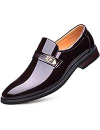 7366f142d GUOPIN Zapatos De Vestir Para Hombres Punta De Cuero Zapatos De Boda ...