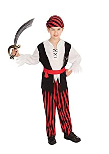 Bristol Novelty Traje Pirata Jim (L) Edad aprox 7-9 años