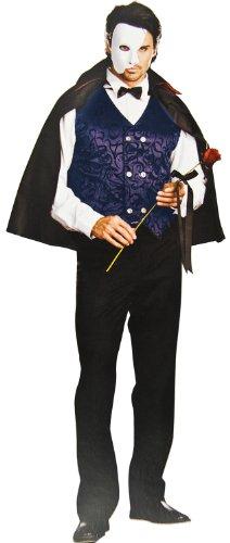 Nick and Ben Mysteriöses Phantom der Oper Kostüm! 3 Teile! Maske Cape Weste hochwertig Einheitsgröße schwarz
