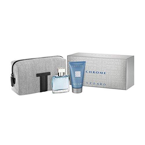 AZZAR0 Chrome Coffret: Eau de Toilette 30 ml + Shower Gel 50 ml + Kulturbeutel ml im Set
