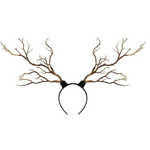 rren Baum Zweige Geweih Stirnband Weihnachten Cosplay Party Fotoshooting Rentier Haarband (Braun, Eine Größe) ()