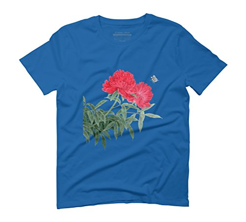 The Charm of Summer Men's Graphic T-Shirt - Design By Humans Royal Blue