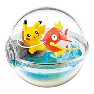 Nintendo Pokemon Center Original Pokeball Terrarium Figure Along with Pikachu~129 Koiking Magikarp Karpador Magicarpe