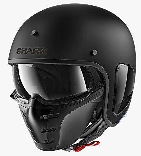 Shark Motorradhelm S-DRAK BLANK MAT KMA, Schwarz, M