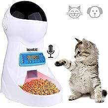 2.5 Litro Comedero Automatico Gatos Iseebiz Comedero para Perro Electrónico con Recordatorio por Voz y Temporizador