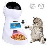 Comedero Automatico Gatos Iseebiz 3 Litro Comedero Perro Tiene 4 Comidas con Recordatorio por Voz y Temporizador Fuciona con el Enchufe o las Pilas