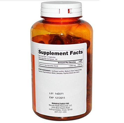 Dr. Mercola, Liposomalen Vitamin C, 180 Kapseln