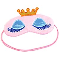 SA Crown Eye Mask Shade Cover Rest Eyepatch Blindfold Shield Travel Sleeping Aid (Pink) by Saijcosa