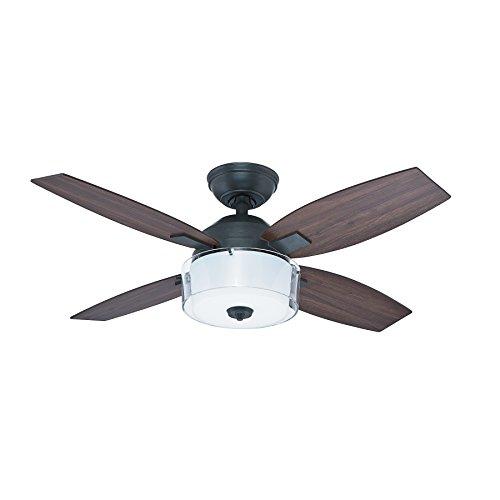 Hunter Fan 50618 Central Park - Ventilador de techo con luz estilo acero envejecido