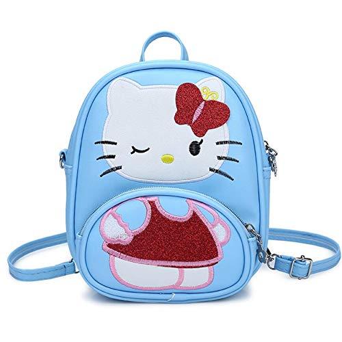 HPADR Kinderrucksack Children Handtasche Für Mädchen Cartoon Cat Pu Leder Mini Sollte Bag Kids Girls Messenger Taschen l -