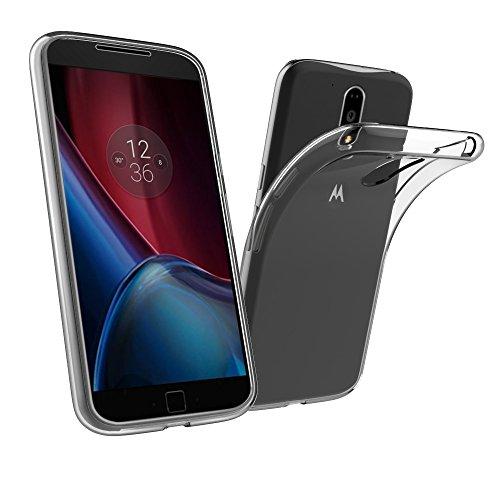 Simpeak Ersatz Motorola Moto G4 / G4 Plus Hülle,2 Pack, Schutzhülle Ersatz Lenovo Motorola Moto G4 / G4 Plus Case Silikon Transparent -