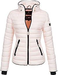 b183e24f955c59 Marikoo Damen Jacke Steppjacke Übergangsjacke gesteppt mit Kordeln Frühjahr  Camouflage B405