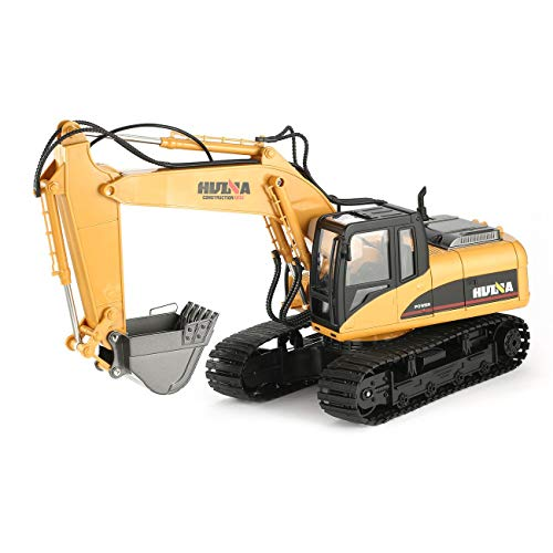 RC Auto kaufen Baufahrzeug Bild: HUINA 1550 1/14 2.4G 15CH RC Legierung Bagger LKW Baufahrzeug Spielzeug*