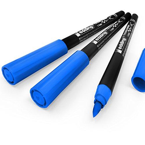 Edding 4200Porzellan-Pinsel, 1–4mm–Pack von 3–hellblau # 10