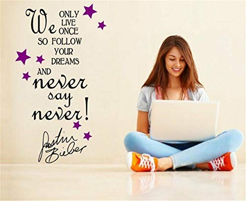 wandaufkleber 3d Wandtattoo Schlafzimmer Positives Motivzitat durch Justin Bieber Wall Decoration For Living Room