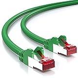 deleyCON 2m CAT6 Patchkabel S/FTP PIMF Schirmung CAT-6 RJ45 Netzwerkkabel Ethernetkabel LAN DSL Switch Router Modem Access Point Patchfelder - Grün