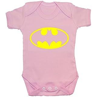 Acce Products Bat Baby Bodysuit/Romper/Vest/T-Shirt 0 to 24 Months Batman (0-3 Months, Pink)