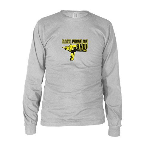 Don't Phase me Bro - Herren Langarm T-Shirt, Größe: XXL, Farbe: weiß (Generation Next Trek Star Uniform-farben)
