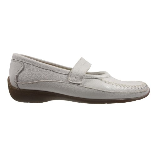 afis shoe-fashion 41472-102 Damen Schuhe Premium Qualität Mokassin Weiß (weiss)