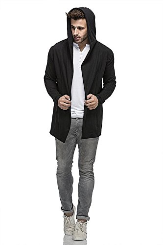 Veirdo-Mens-Cotton-Blend-Hooded-Cardigan-Shrug-for-men-Casual-wear-Party-wear
