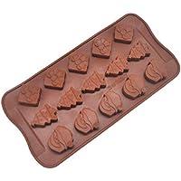 Ndier Silicona moldes de la Torta de Santa Claus moldes de la Torta de Chocolate/Pasta/Pan/Hielo moldes Regalos del Conejo de Alimentos se pegan 15 Hoyos