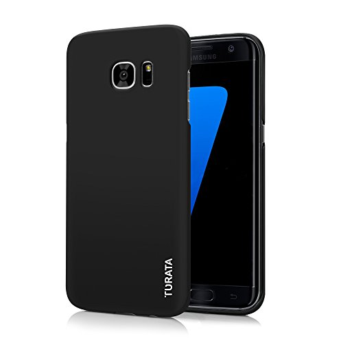 Samsung Galaxy S7 Edge Case – TURATA Ultra dünne Hartplastik PC schwarz Schutzhülle Premium Beschichtete Rutschfeste Oberflächefür Samsung Galaxy S7 Edge Case