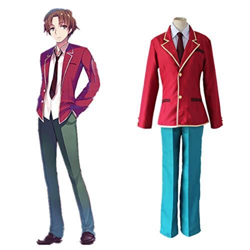 RL Klassenzimmer der Elite Kiyotaka Ayanokouji Schuluniform Kleidung Cosplay Kostüm,Full Set-L