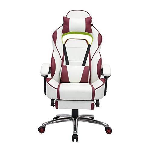 Sexykey KY Beste Büro Schreibtisch Gaming Stuhl High Back Computer Task Swivel Executive Rennstuhl für Für Rückenstütze mit Lordosenstütze Einstellen Armlehne,White -