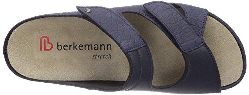 Berkemann Janna, Chaussures de Claquettes femme Bleu - Blau (blau 321)