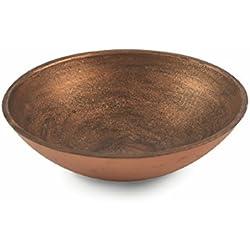 Cuenco Decorativo de Madera y Cobre, 29,5cm