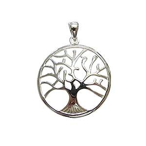 Anhänger Kettenanhänger Medaillon Baum des Lebens Lebensbaum 925 er Sterling Silber 33 mm