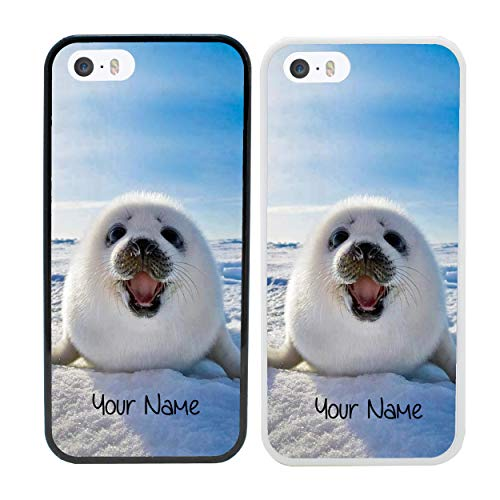I-CHOOSE LIMITED Arktische Tiere Personalisierter Handyhülle für Apple iPhone 5 5s SE 5se Benutzerdefinierte Hülle Persönlich Dein Name Stoßstange