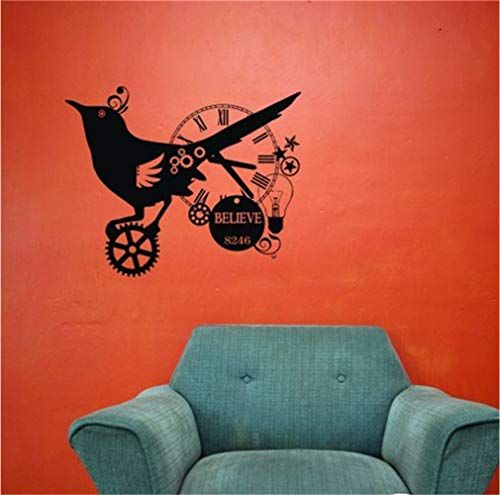 pegatinas de pared frases Steampunk Bird Collage para la sala de estar