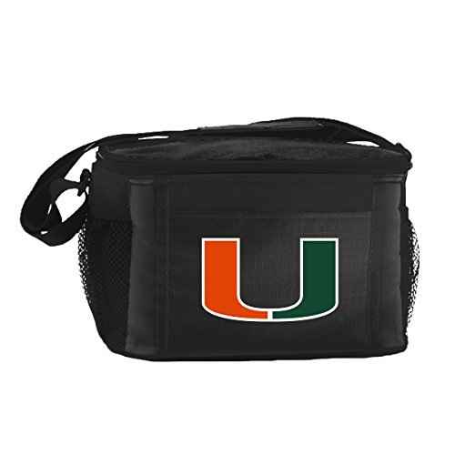 ncaa-miami-hurricanes-insulated-lunch-cooler-bag-with-zipper-closure-black-by-kolder