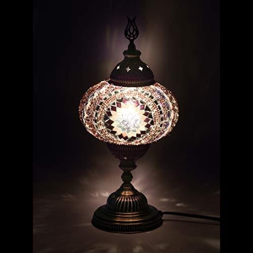 Mosaik-Lampe - handgefertigte türkische Mosaik-Lampe, 11,4 cm, Mosaik-Laterne, Bronze, Wandlampe für Raumdekoration (Eltern) Tiffany Large (7