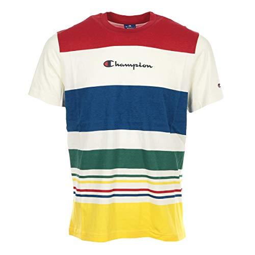 Champion TS Stripe Beige Red Blue Größe: S Farbe: Beige -