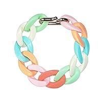 Adorning Ava Chunky Plastic Chain Bracelet Pastel Colourful